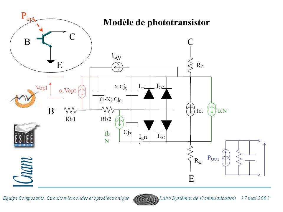 Modèle de phototransistor