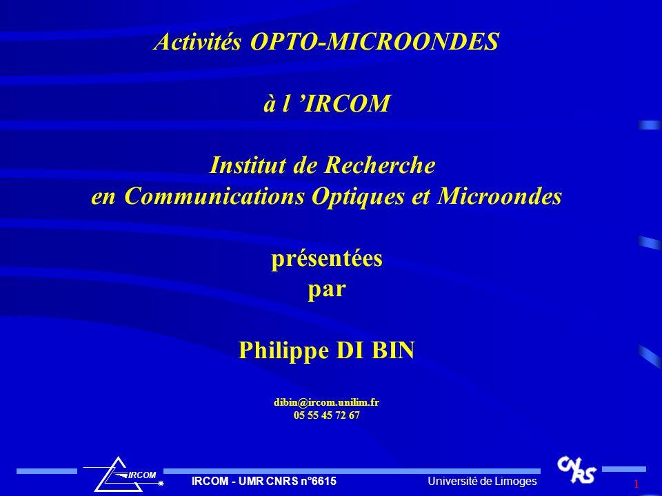 Activités OPTO-MICROONDES en Communications Optiques et Microondes