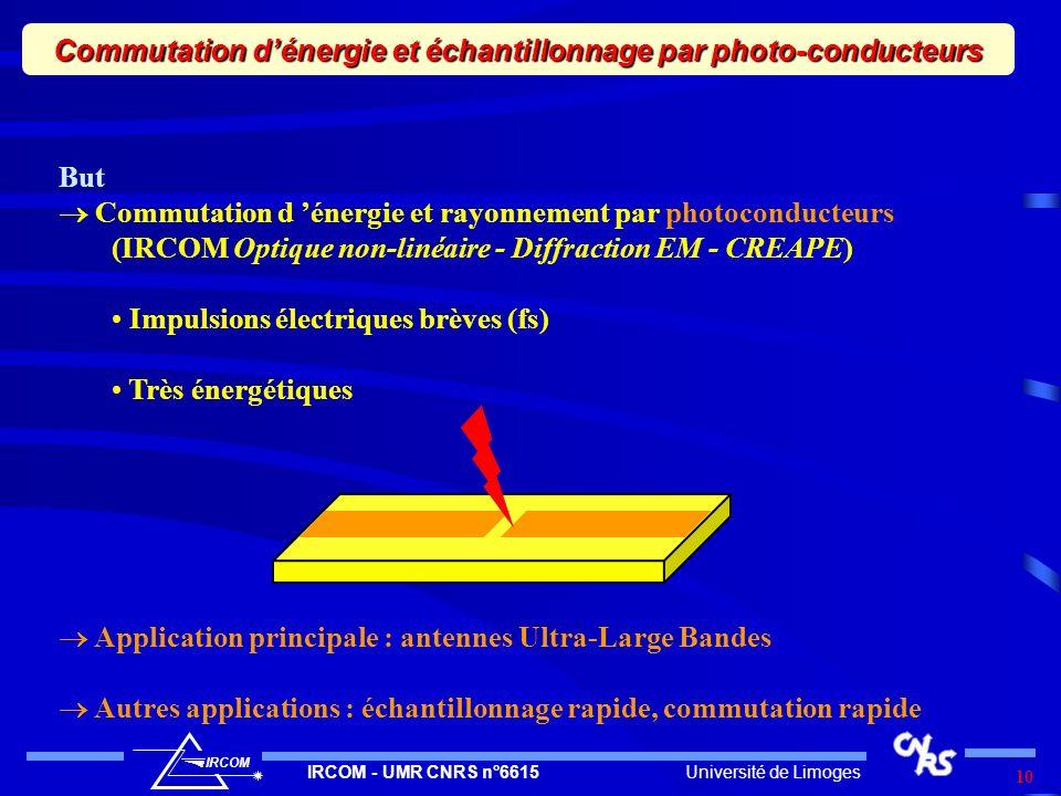 Commutation d'énergie et échantillonnage par photo-conducteurs