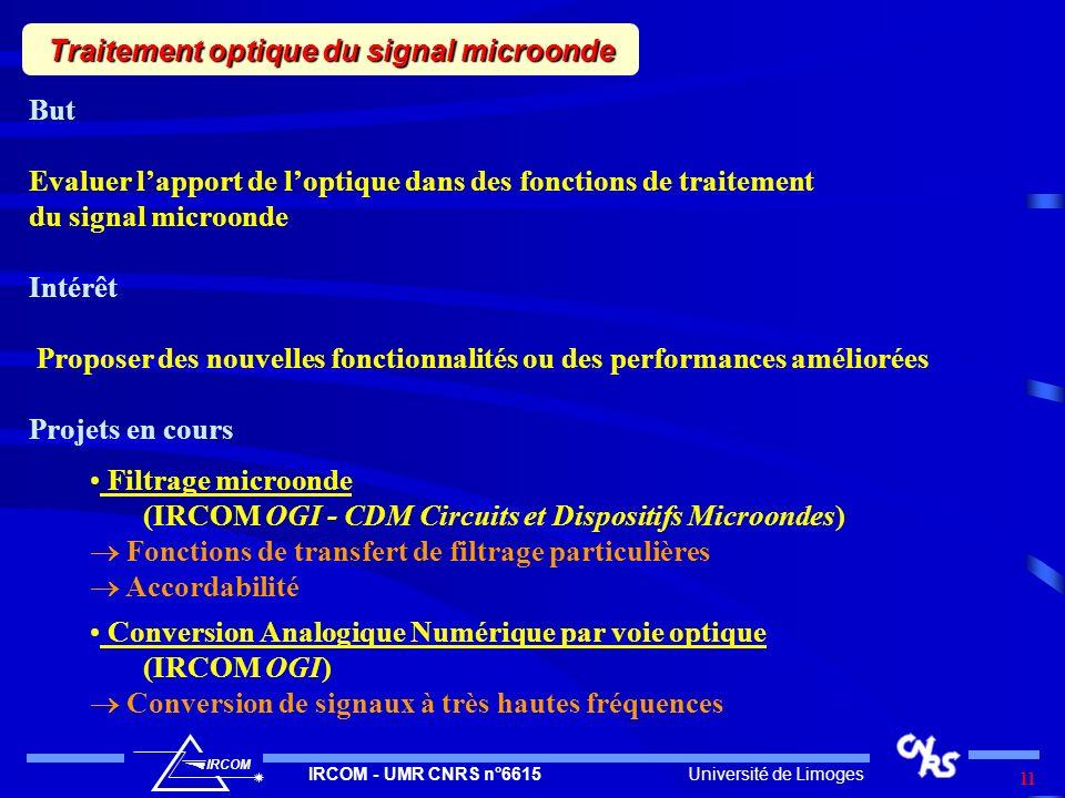 Traitement optique du signal microonde
