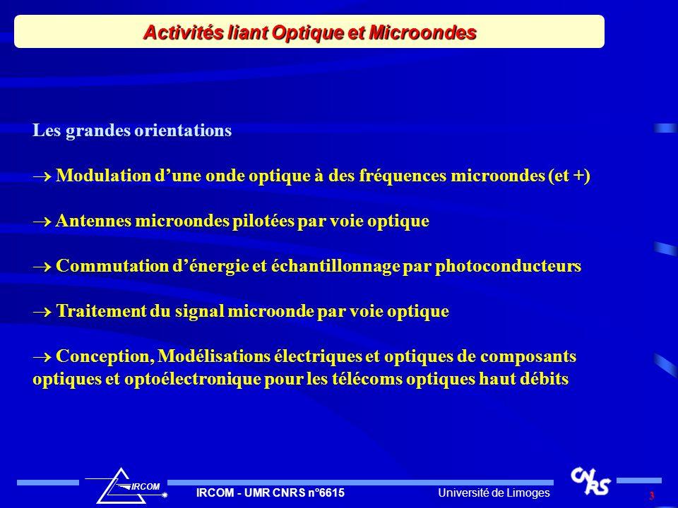 Activités liant Optique et Microondes