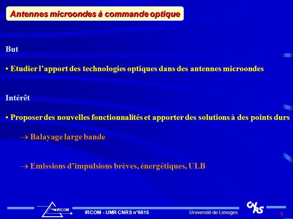 Antennes microondes à commande optique
