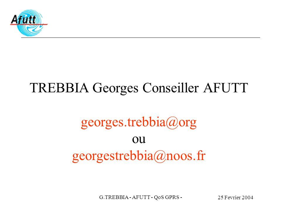 TREBBIA Georges Conseiller AFUTT georges.trebbia@org ou