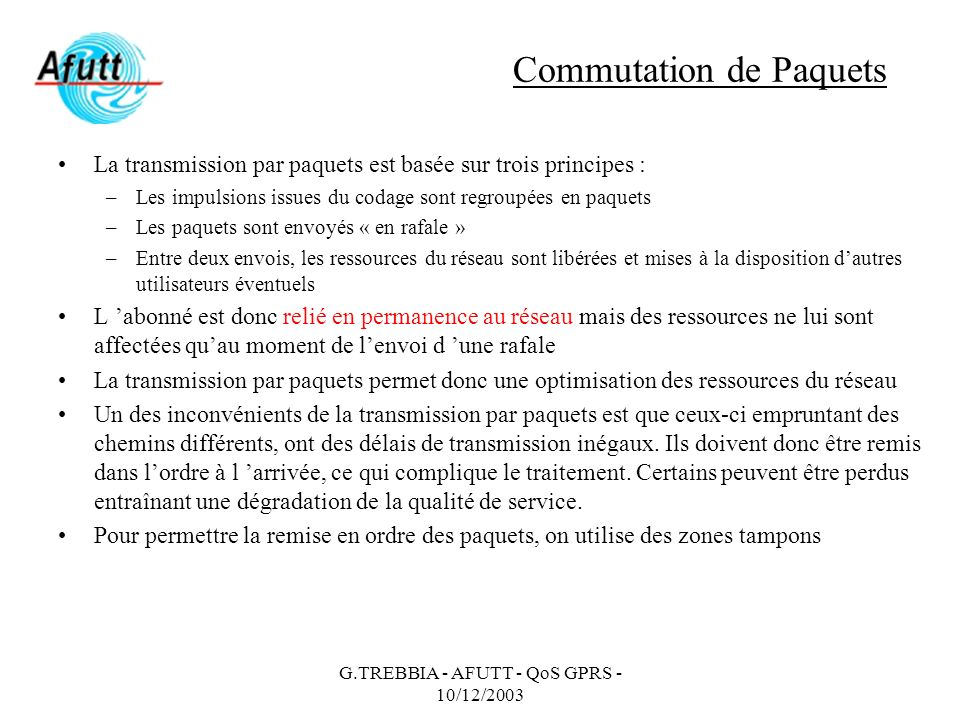 Commutation de Paquets