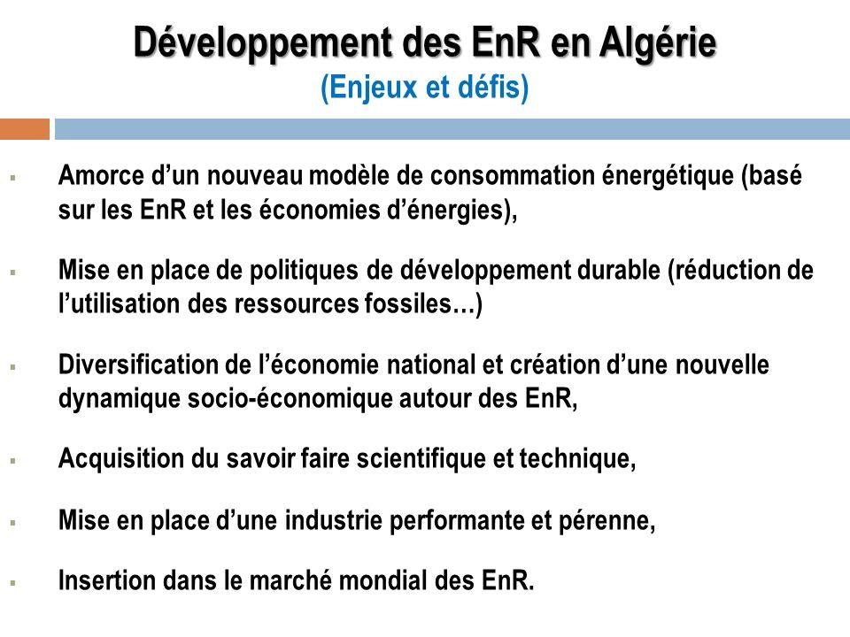 Développement des EnR en Algérie (Enjeux et défis)
