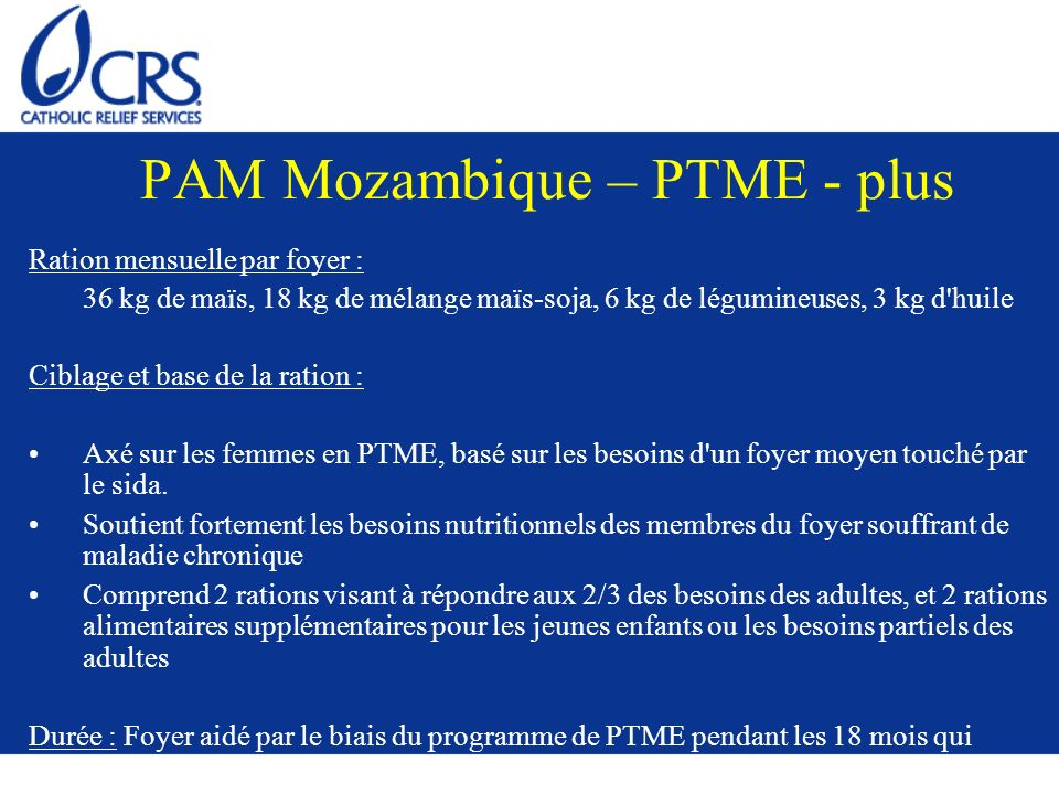 PAM Mozambique – PTME - plus