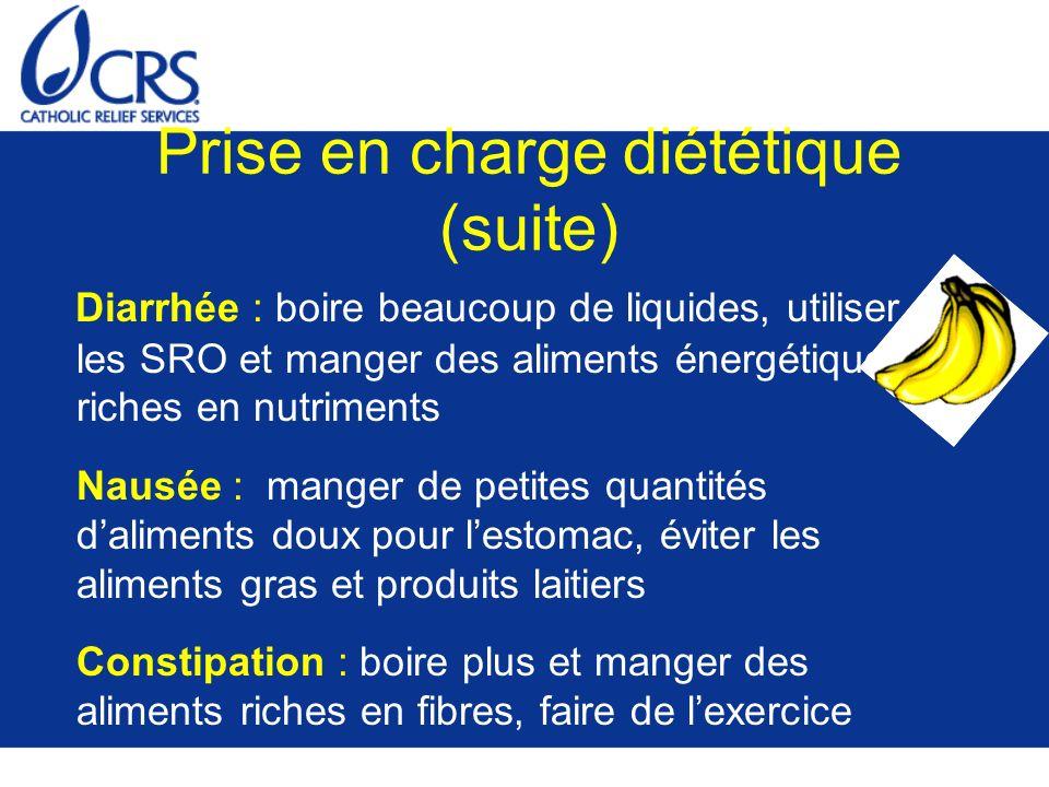 Prise en charge diététique (suite)