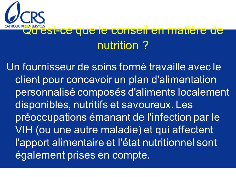 Qu est-ce que le conseil en matière de nutrition