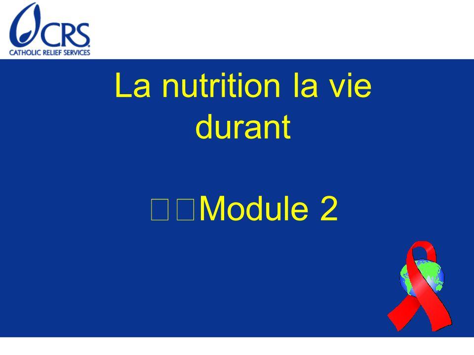 La nutrition la vie durant Module 2