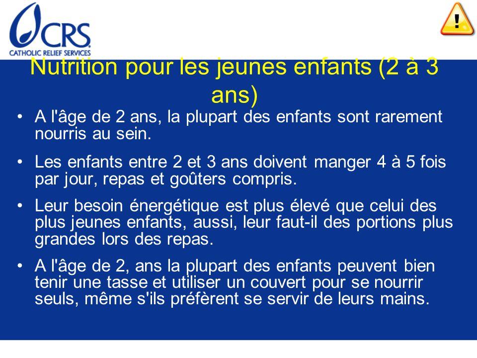 Nutrition pour les jeunes enfants (2 à 3 ans)