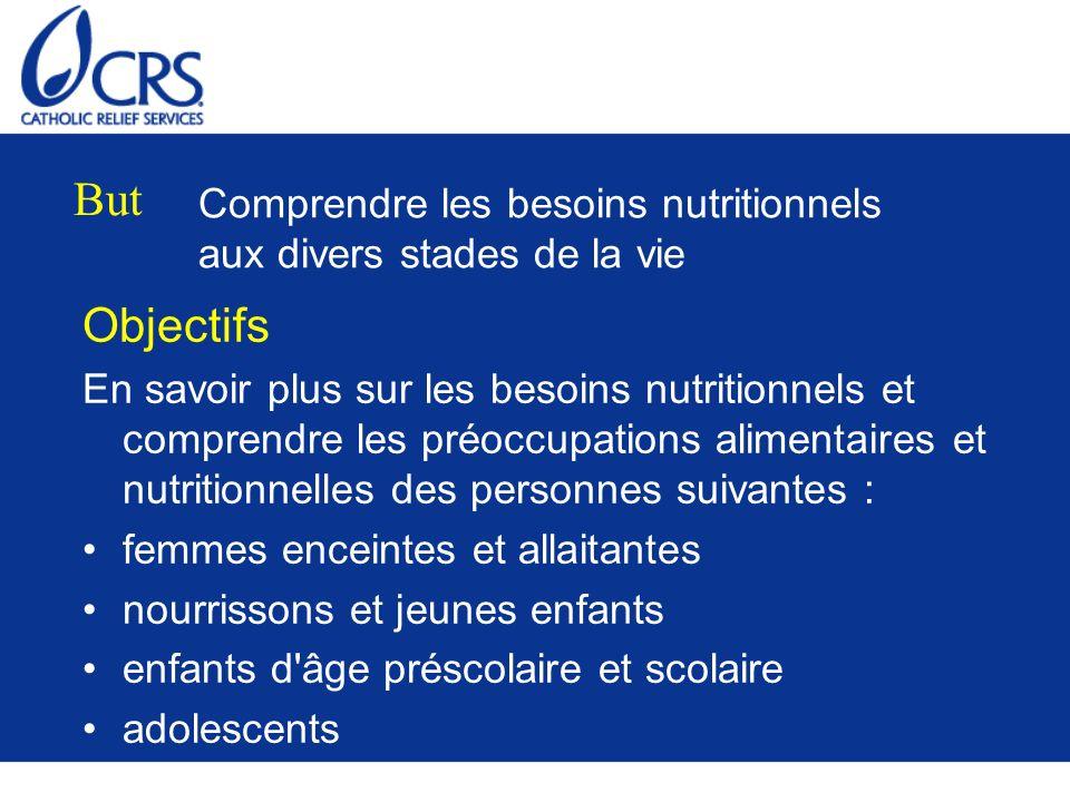 Comprendre les besoins nutritionnels aux divers stades de la vie