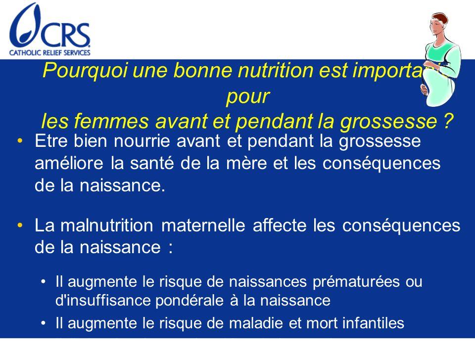Pourquoi une bonne nutrition est importante pour les femmes avant et pendant la grossesse