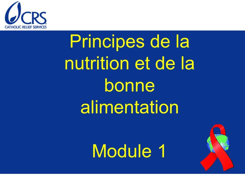 Principes de la nutrition et de la bonne alimentation Module 1