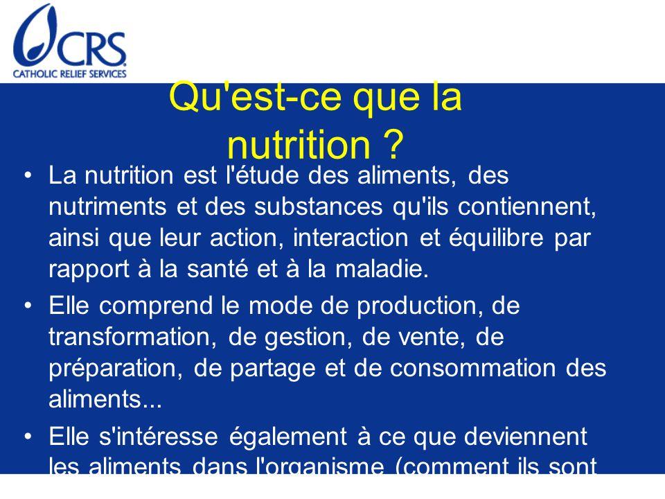 Qu est-ce que la nutrition