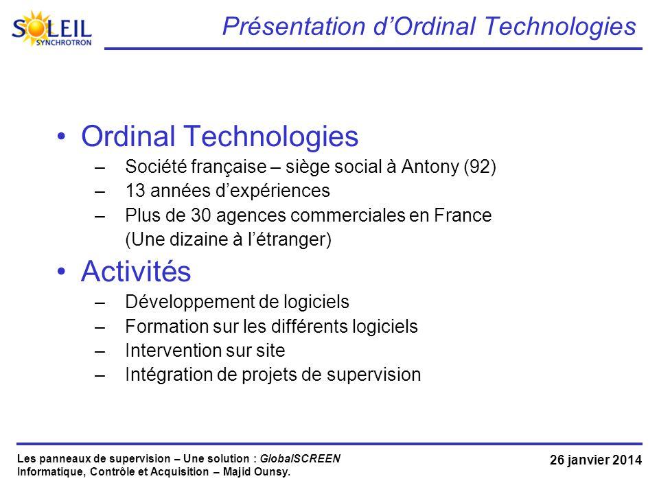 Présentation d'Ordinal Technologies