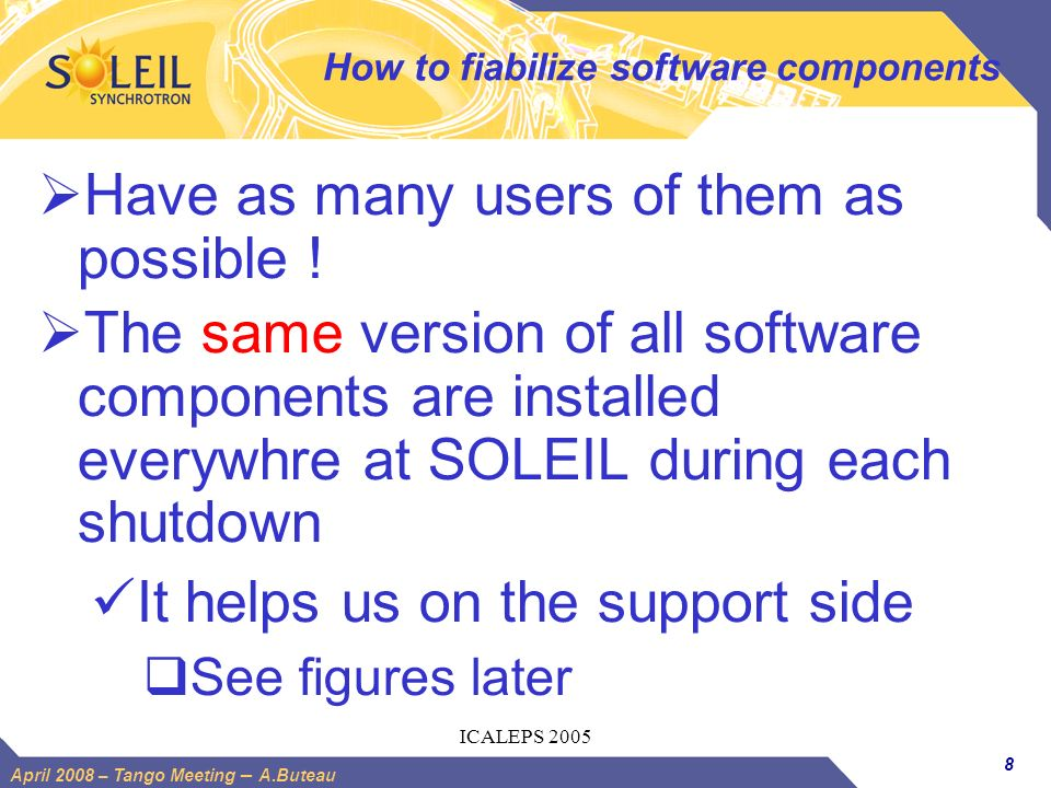 How to fiabilize software components