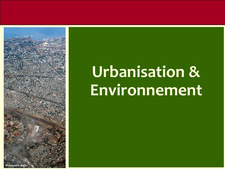 Agricultural Sector Urbanisation & Environnement Urbanisation