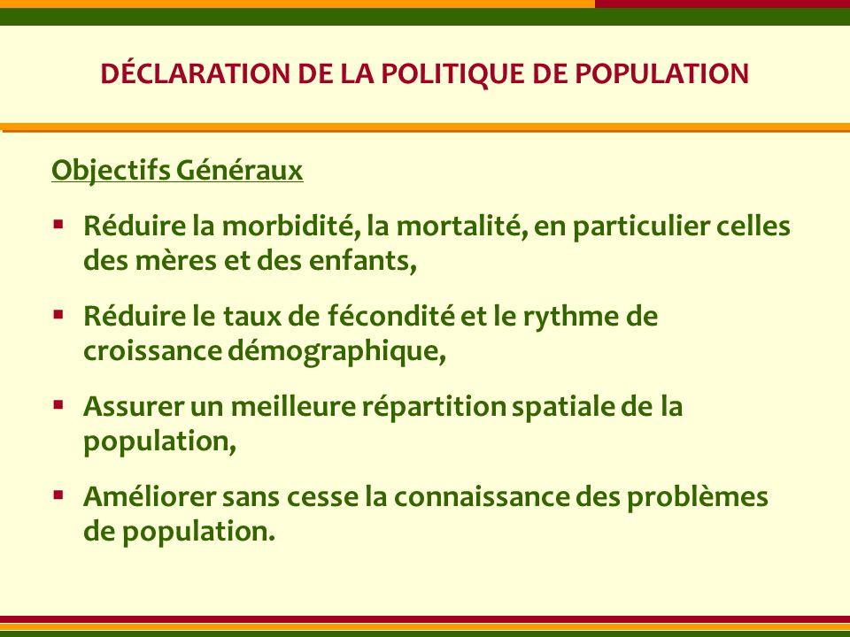 DÉCLARATION DE LA POLITIQUE DE POPULATION