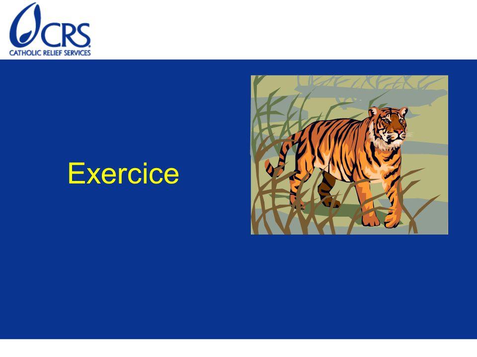 Exercice Consulter l exercice 1 du module 3.