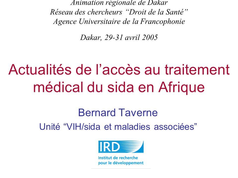 Bernard Taverne Unité VIH/sida et maladies associées