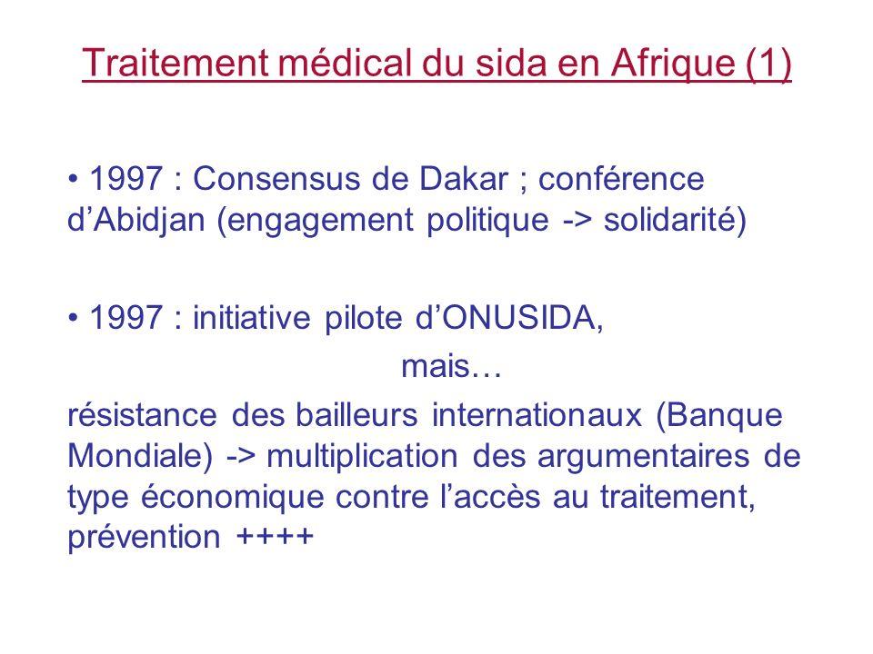Traitement médical du sida en Afrique (1)