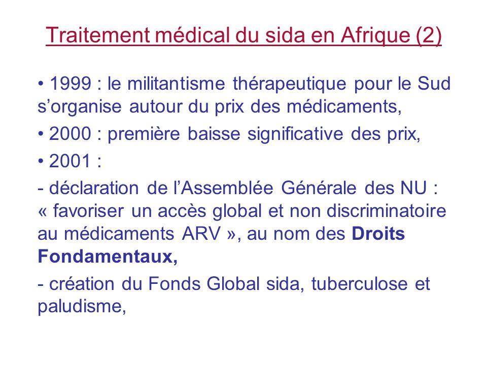 Traitement médical du sida en Afrique (2)