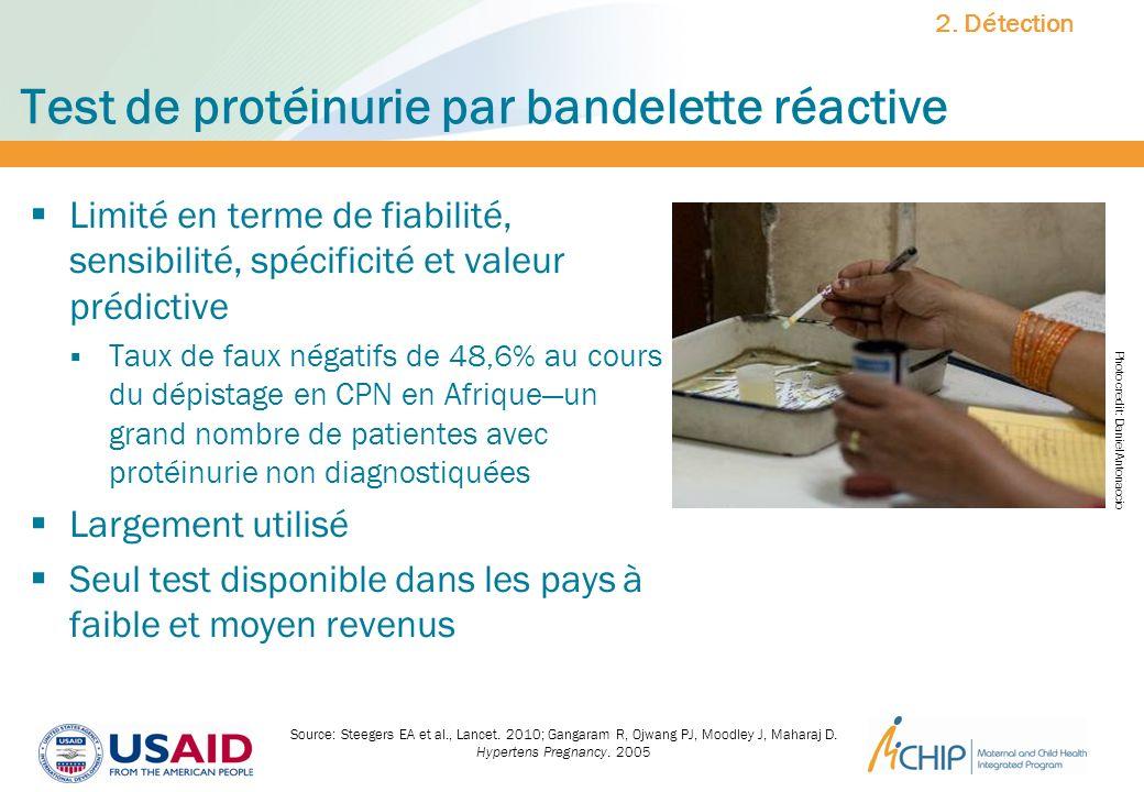Test de protéinurie par bandelette réactive