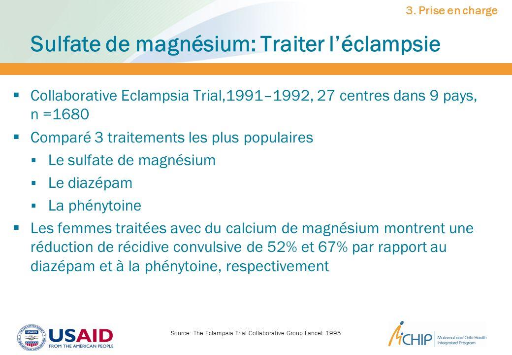 Sulfate de magnésium: Traiter l'éclampsie