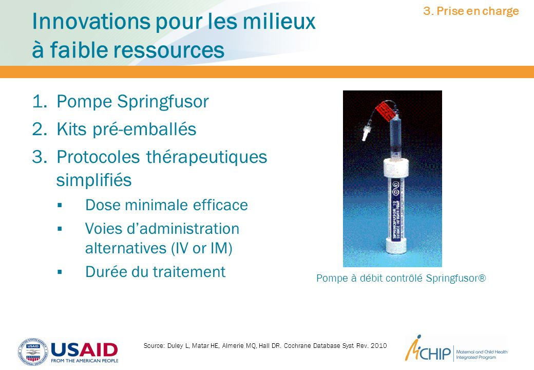 Innovations pour les milieux à faible ressources