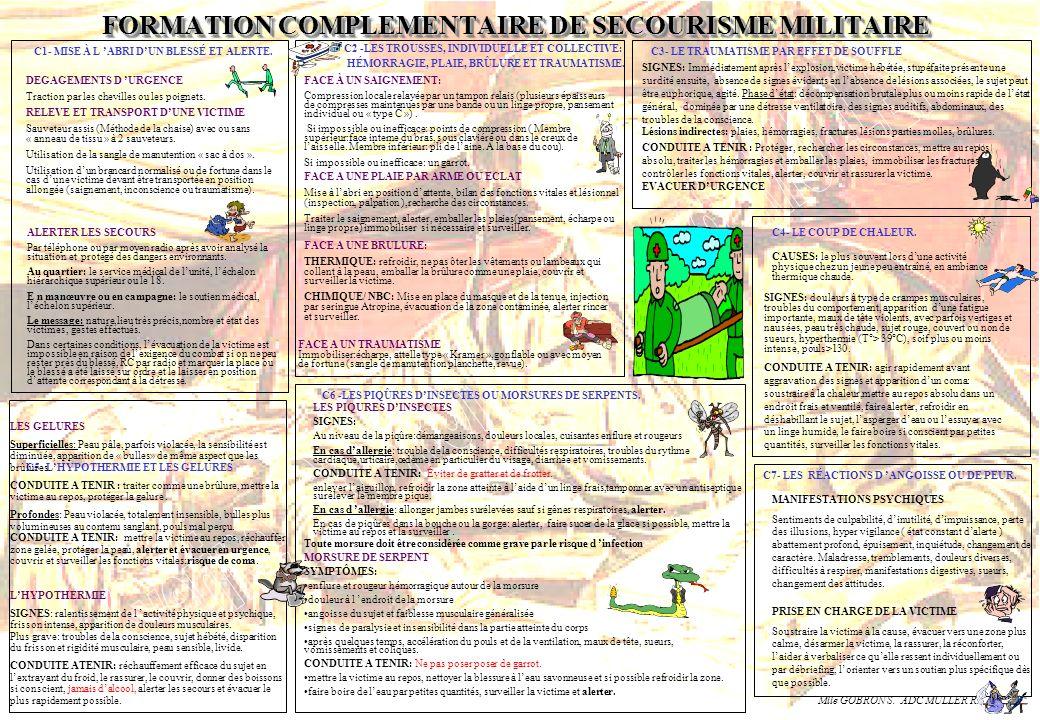 FORMATION COMPLEMENTAIRE DE SECOURISME MILITAIRE