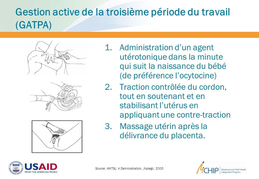 Gestion active de la troisième période du travail (GATPA)