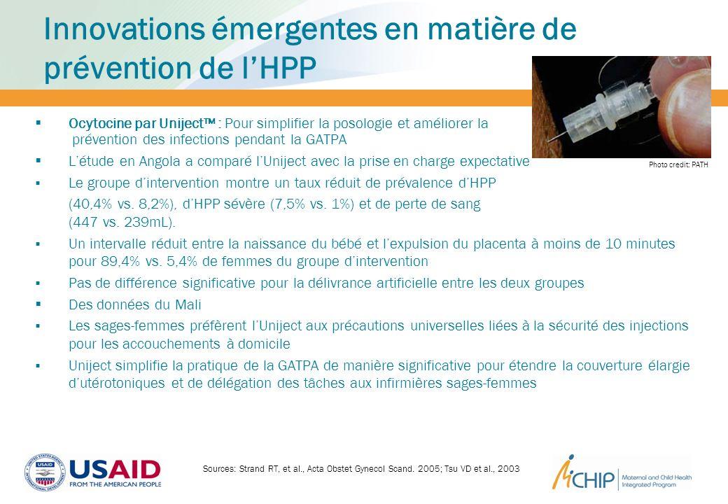 Innovations émergentes en matière de prévention de l'HPP