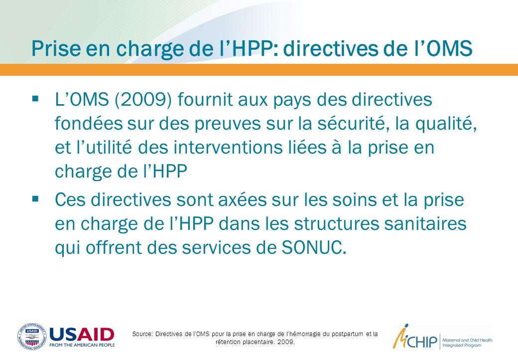 Prise en charge de l'HPP: directives de l'OMS