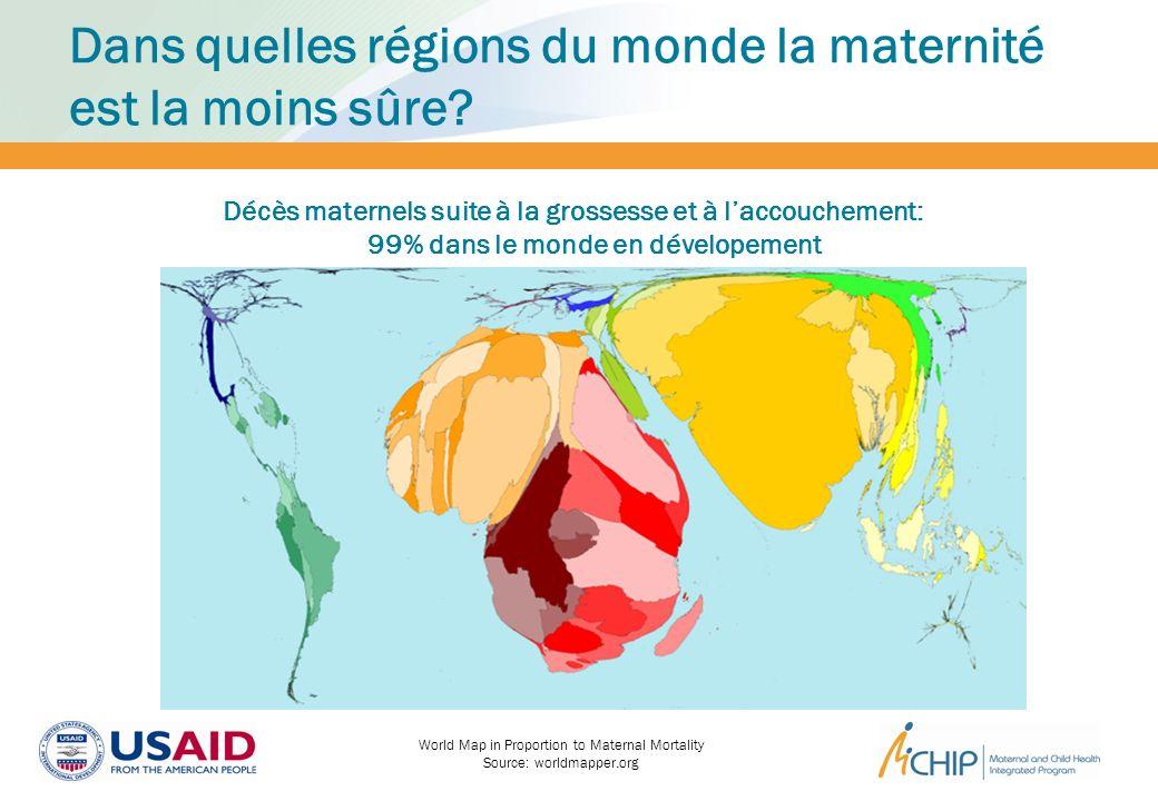 Dans quelles régions du monde la maternité est la moins sûre