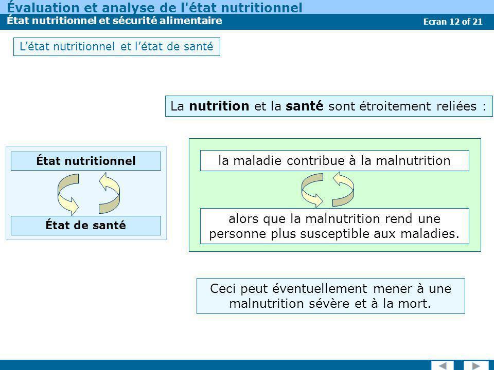 La nutrition et la santé sont étroitement reliées :