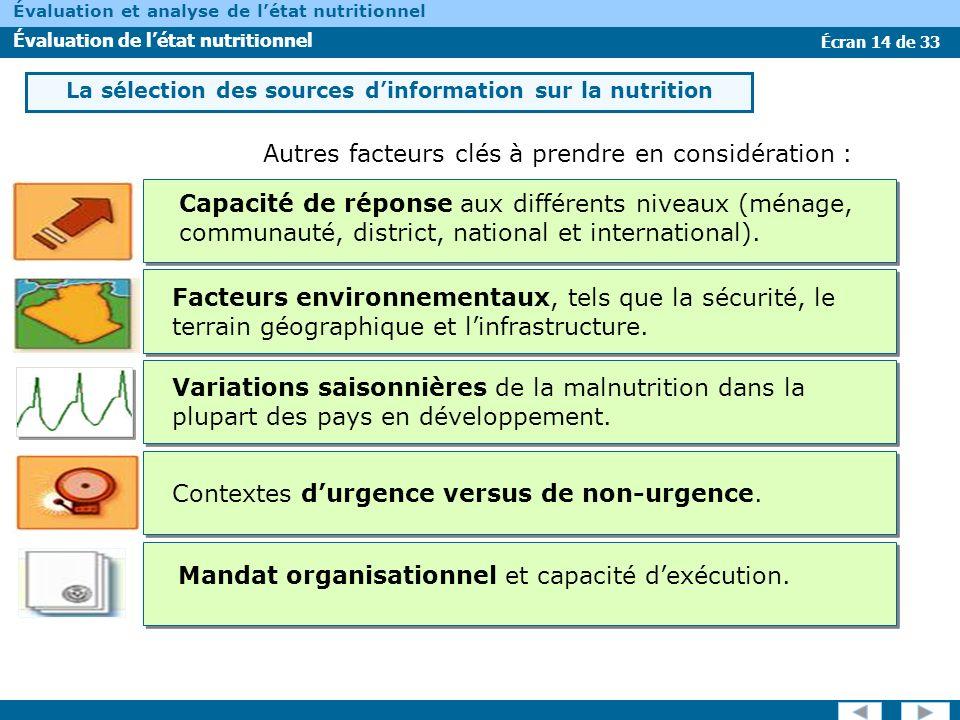 La sélection des sources d'information sur la nutrition