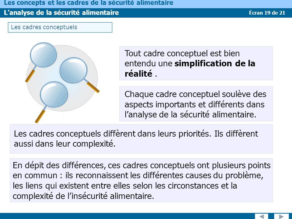 Les cadres conceptuels