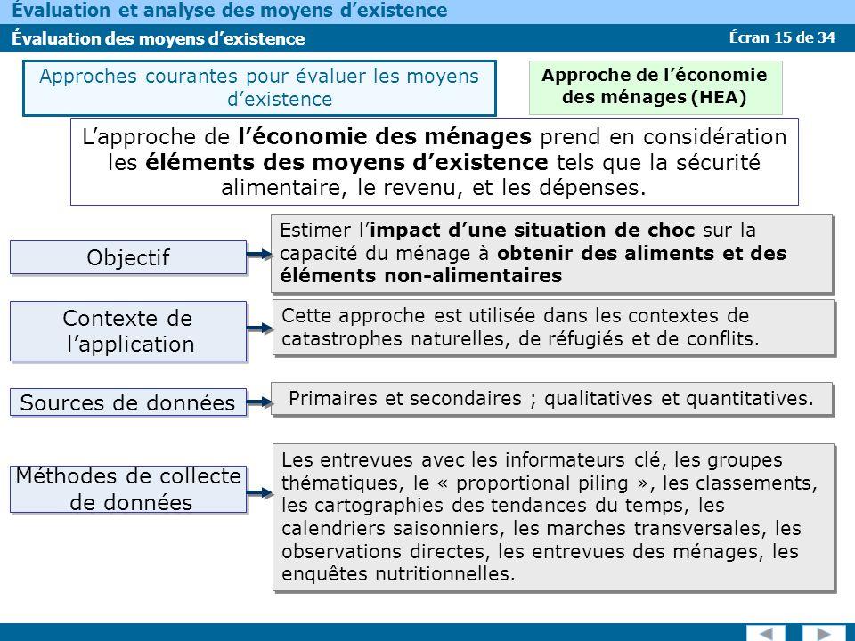 Approche de l'économie des ménages (HEA)