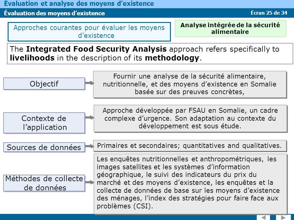 Analyse intégrée de la sécurité alimentaire