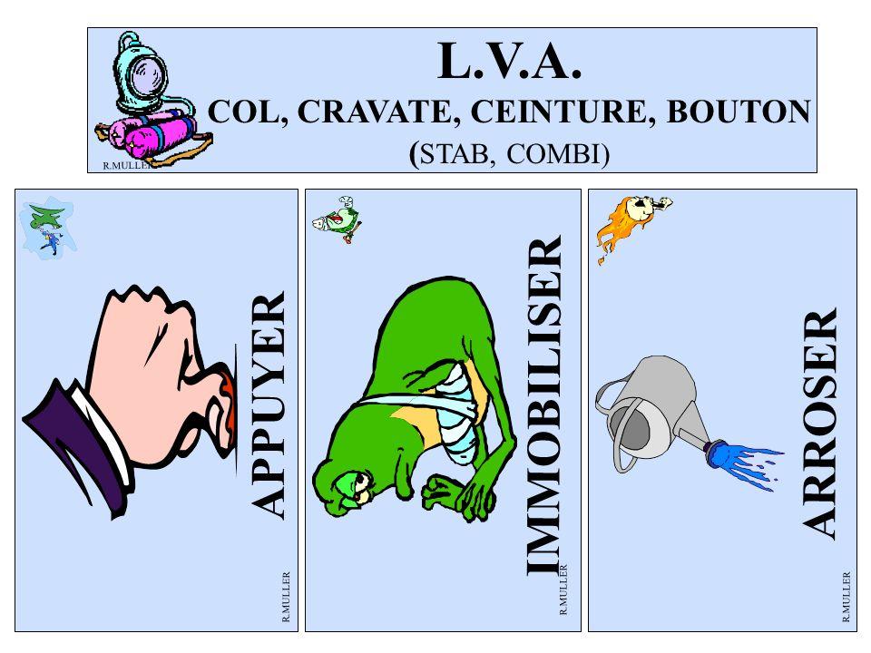 L.V.A. COL, CRAVATE, CEINTURE, BOUTON (STAB, COMBI)