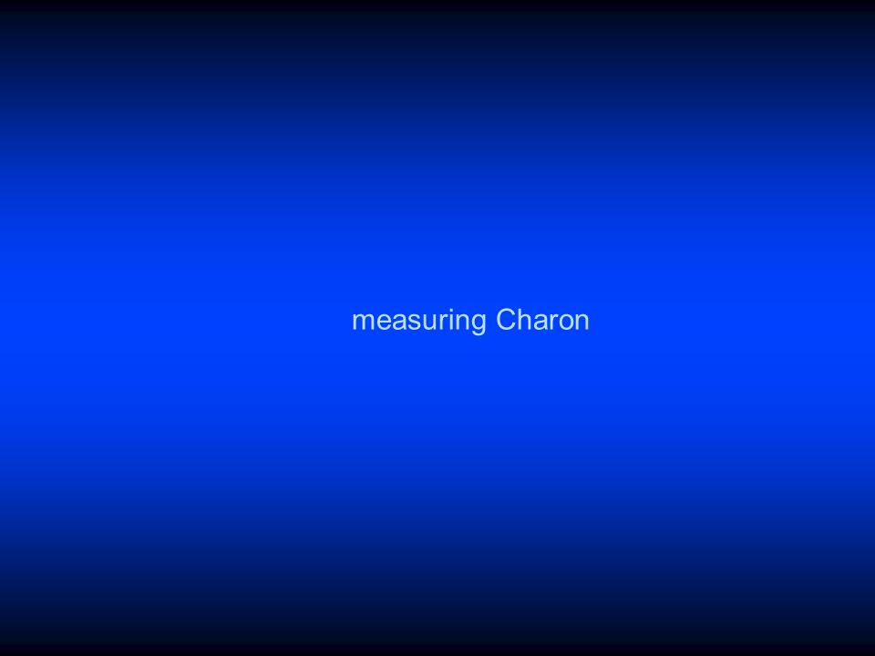 measuring Charon