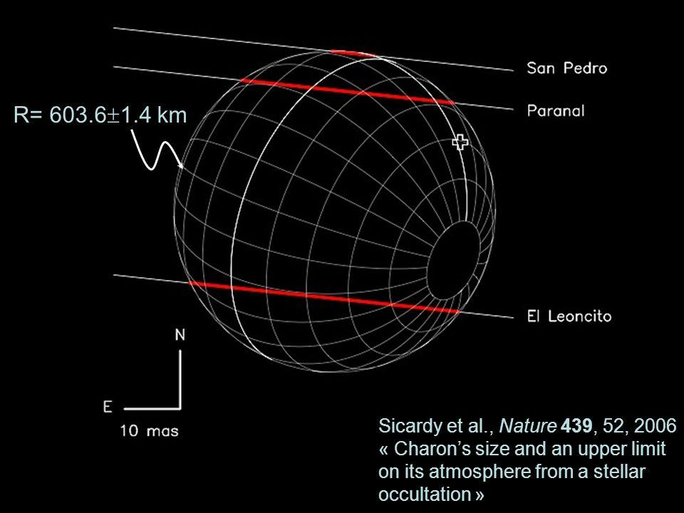 R= 603.61.4 km Sicardy et al., Nature 439, 52, 2006
