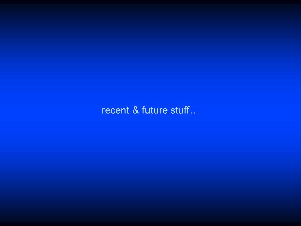 recent & future stuff…