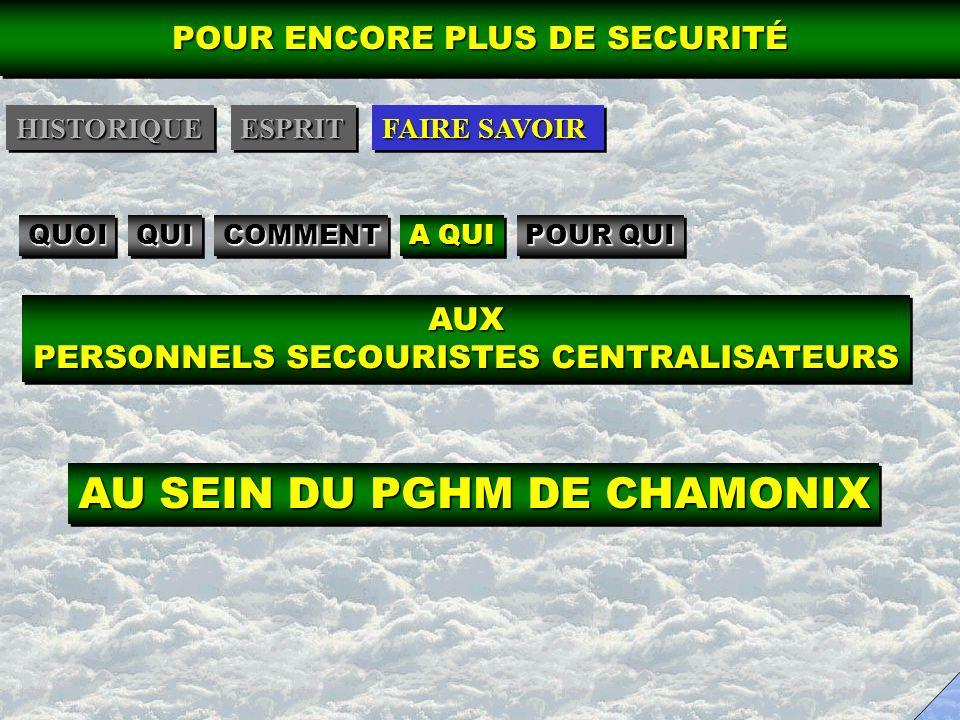 AU SEIN DU PGHM DE CHAMONIX