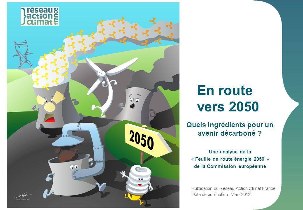 En route vers 2050 Quels ingrédients pour un avenir décarboné