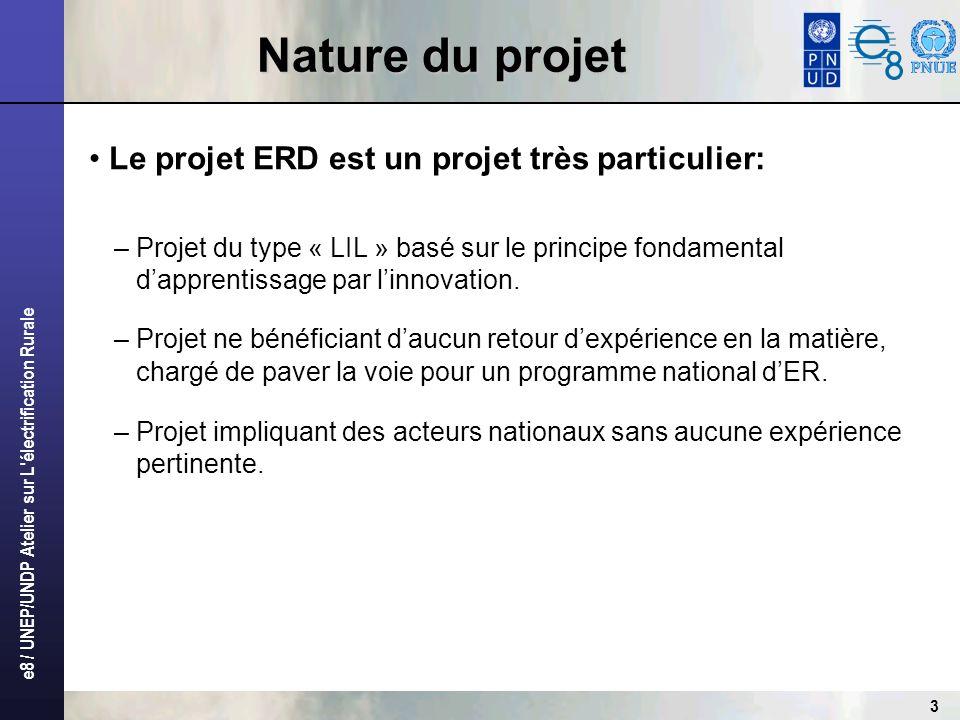 Nature du projet Le projet ERD est un projet très particulier: