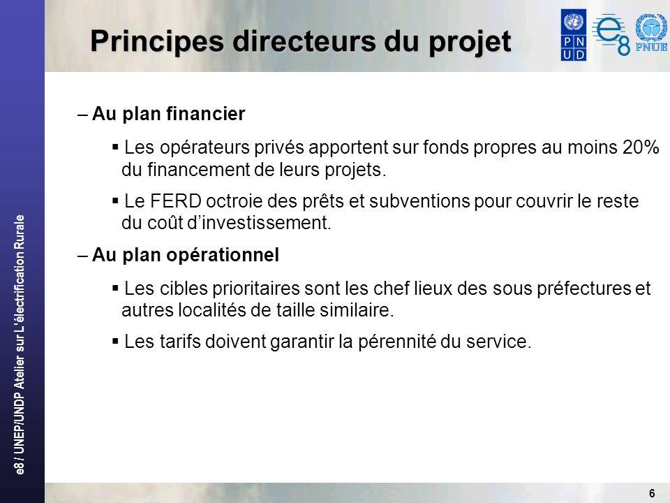 Principes directeurs du projet