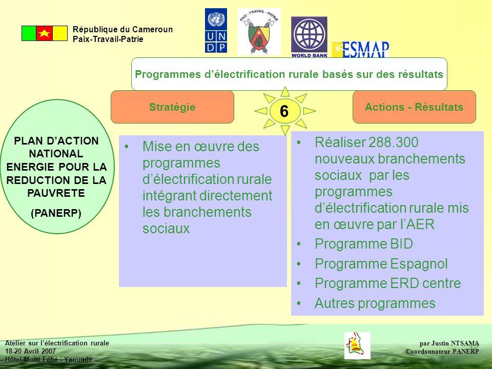 Programmes d'électrification rurale basés sur des résultats
