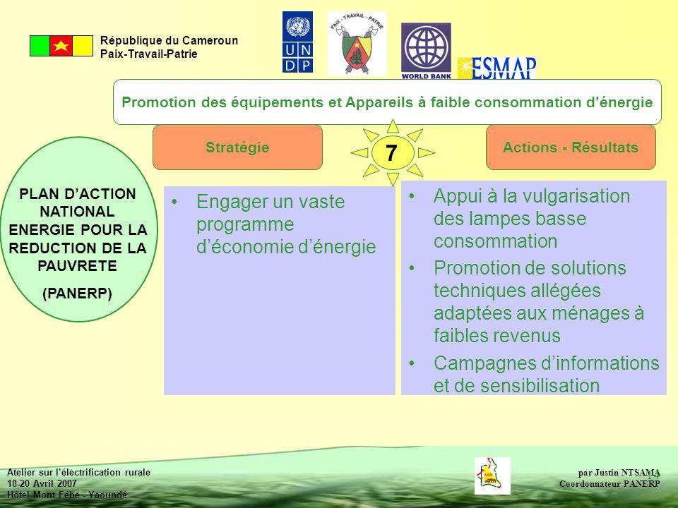 Promotion des équipements et Appareils à faible consommation d'énergie