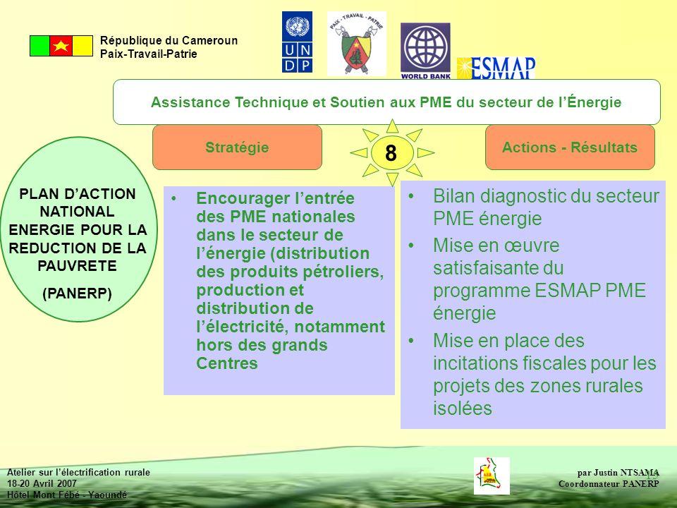 Assistance Technique et Soutien aux PME du secteur de l'Énergie